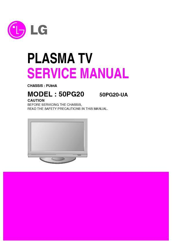 Lg 50pg20 Ua Chassis Pu84a Service Manual View Online Or Download Repair Manual