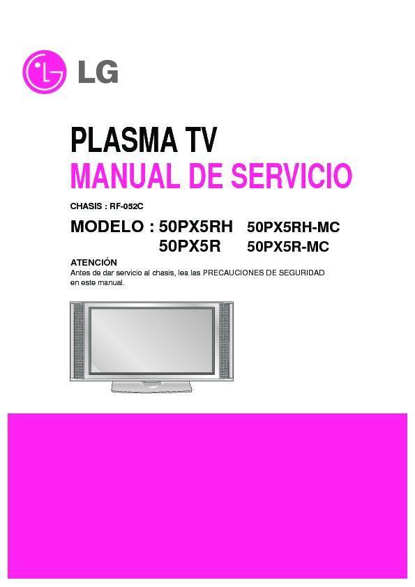 lg 50px5r mc 50px5rh mc chassis rf 052c service manual view rh servlib com lg pdp42v7 plasma tv service manual lg plasma tv owner's manual