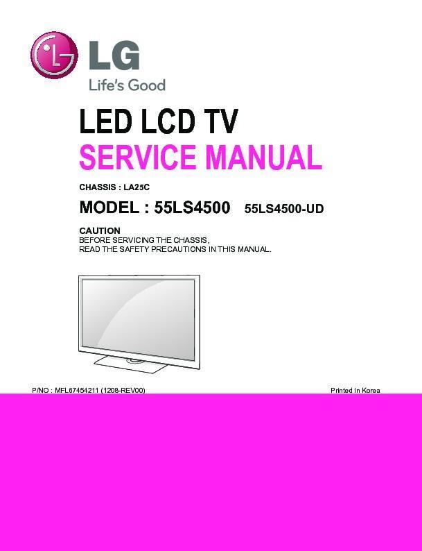 Lg 55ls4500 Chassis La25c Service Manual View Online Or Download Repair Manual