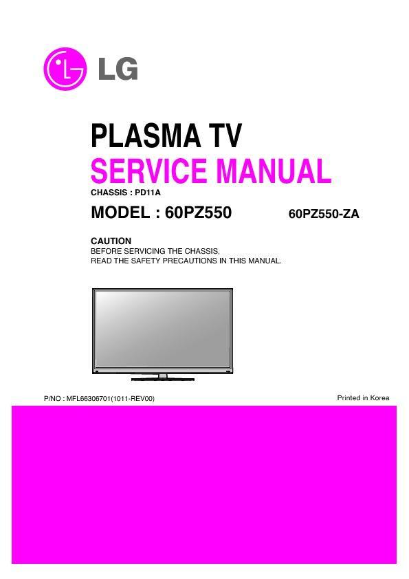 lg 60pz550 za chassis pd11a service manual view online or rh servlib com lg neo plasma instruction manual lg neo plasma manual pdf