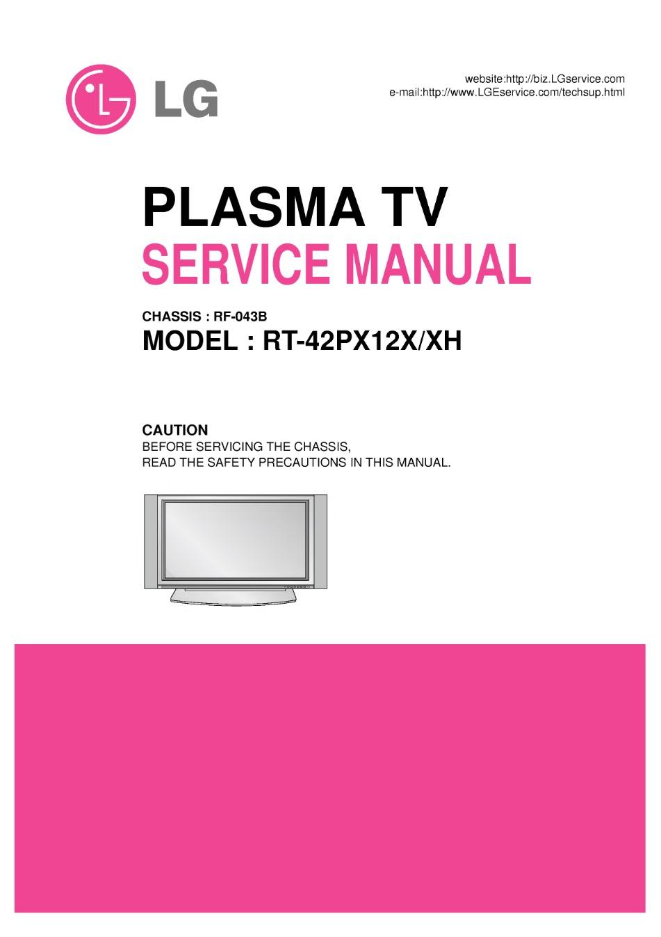 rt-42px12x, rt-42px12xh (chassis:rf-043b) service manual