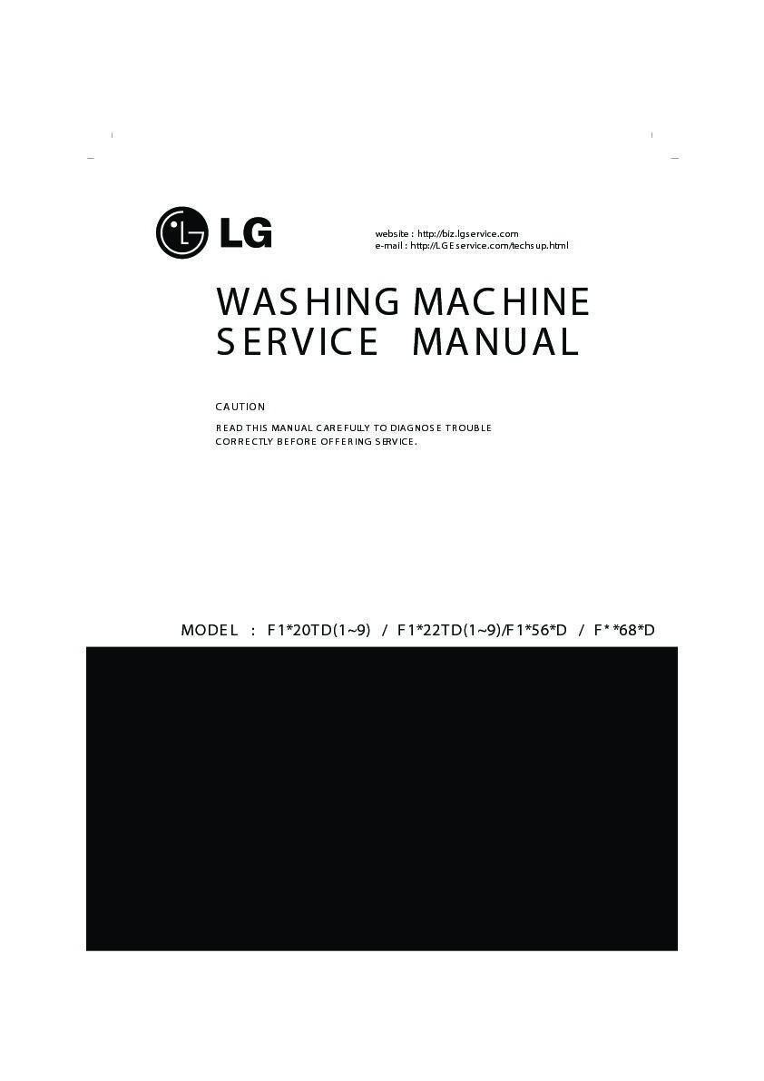 Lg Washing Machine Service Manuals And Schematics  U2014 Repair