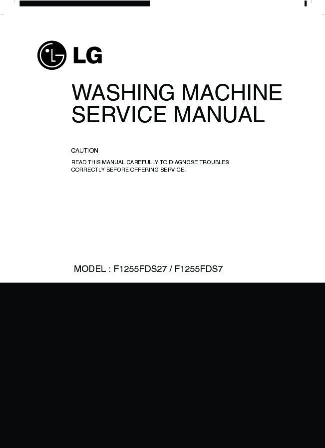 LG F1255FDS27 Service Manual — View online or Download