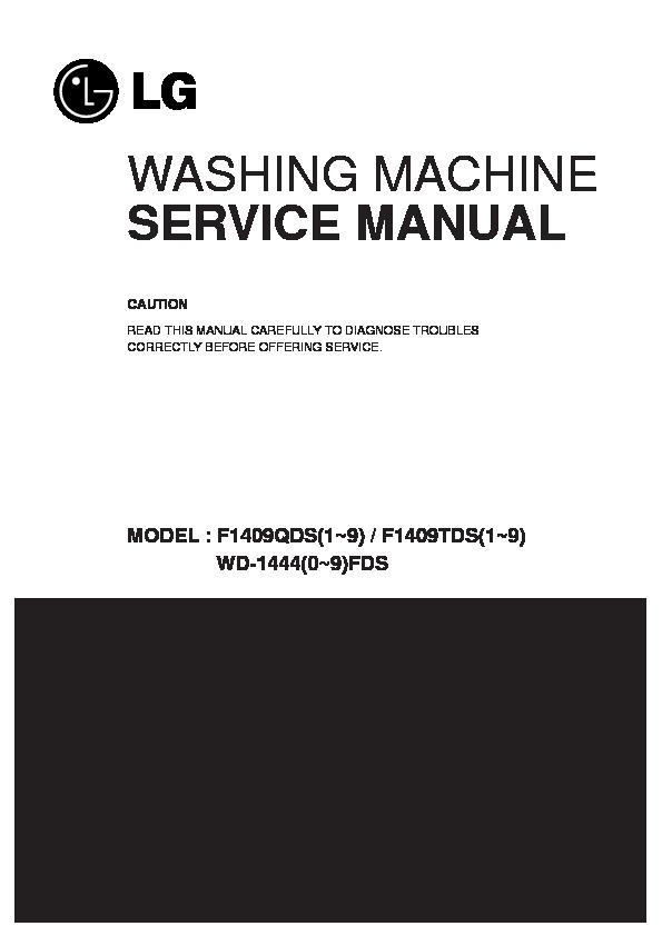 LG F1409QDS Service Manual — View online or Download repair