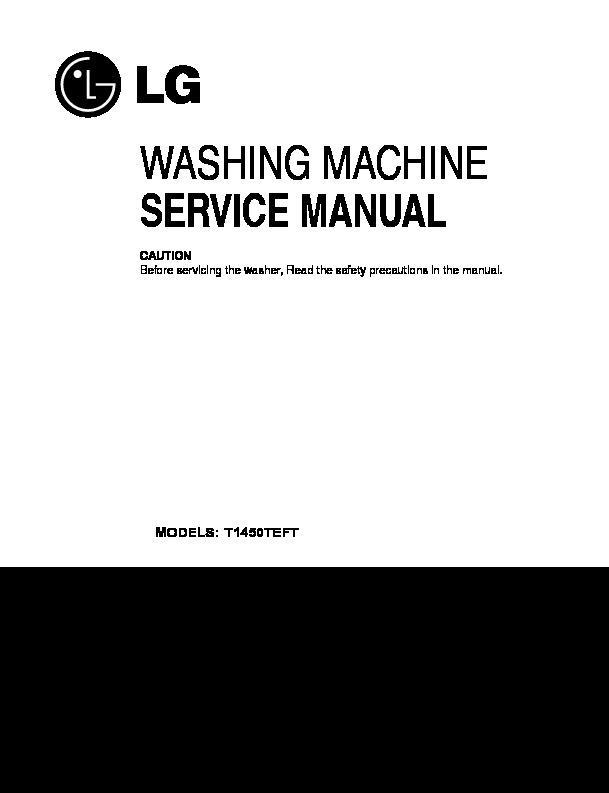 lg t1450teft service manual view online or download repair manual rh servlib com lg washer repair manual online lg washer wm1832cw repair manual