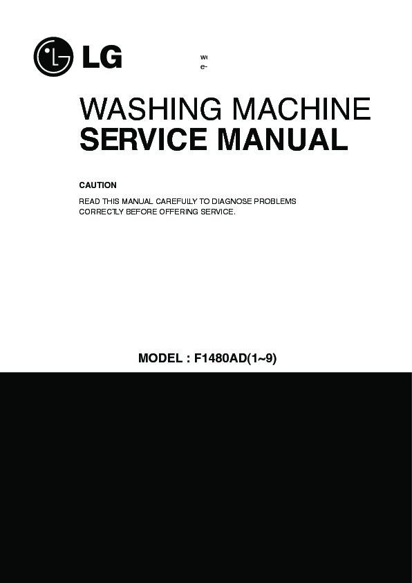 Lg Wd 1480adp Service Manual View Online Or Download