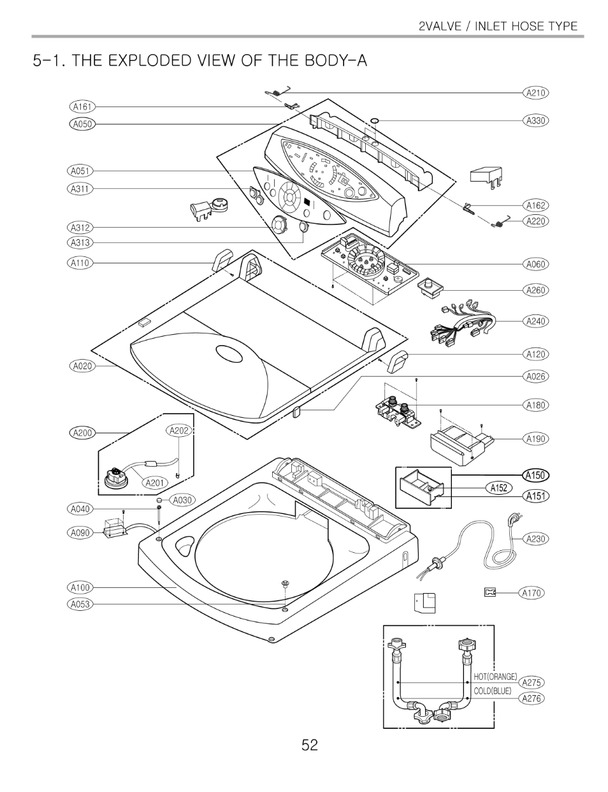 Wt4801cw Lg Washer Parts Schematic