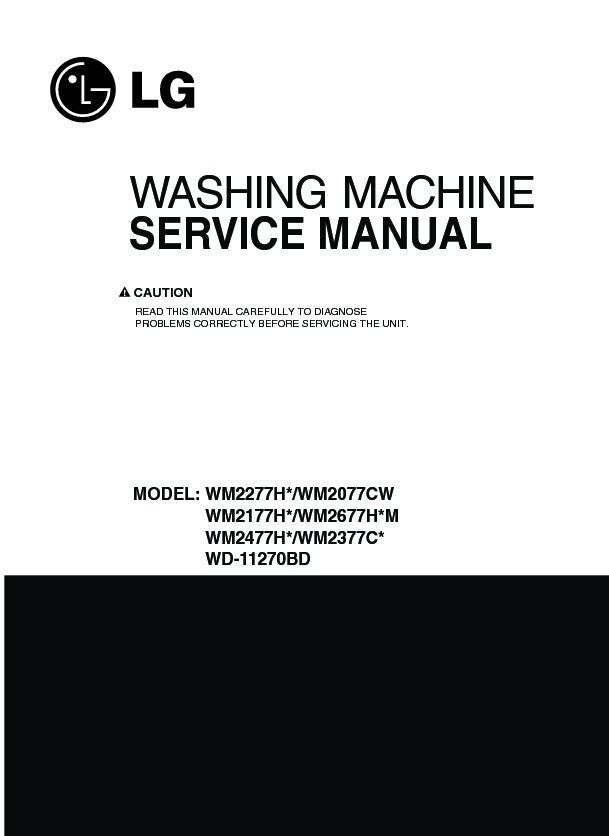 lg wm2277hb service manual view online or download repair manual rh servlib com LG Tromm WM2277HB Error Codes WM2277HB Drain Pump