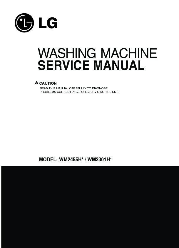 Lg Wm2301hr Service Manual  U2014 View Online Or Download Repair Manual