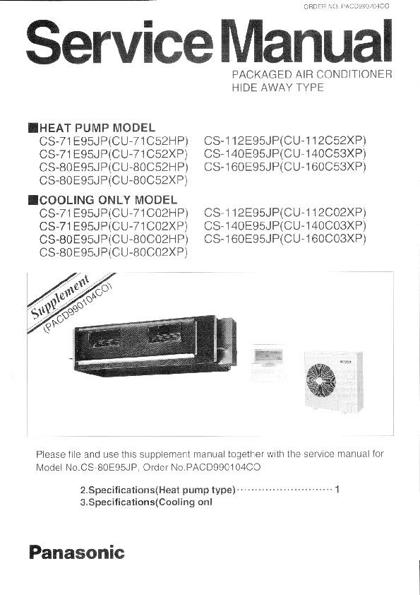 panasonic air conditioner manual pdf