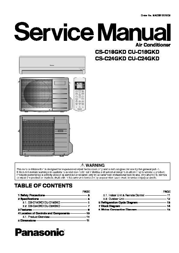 panasonic air conditioner service manuals page 4 rh servlib com National Panasonic Air Con Philippines panasonic inverter aircon service manual