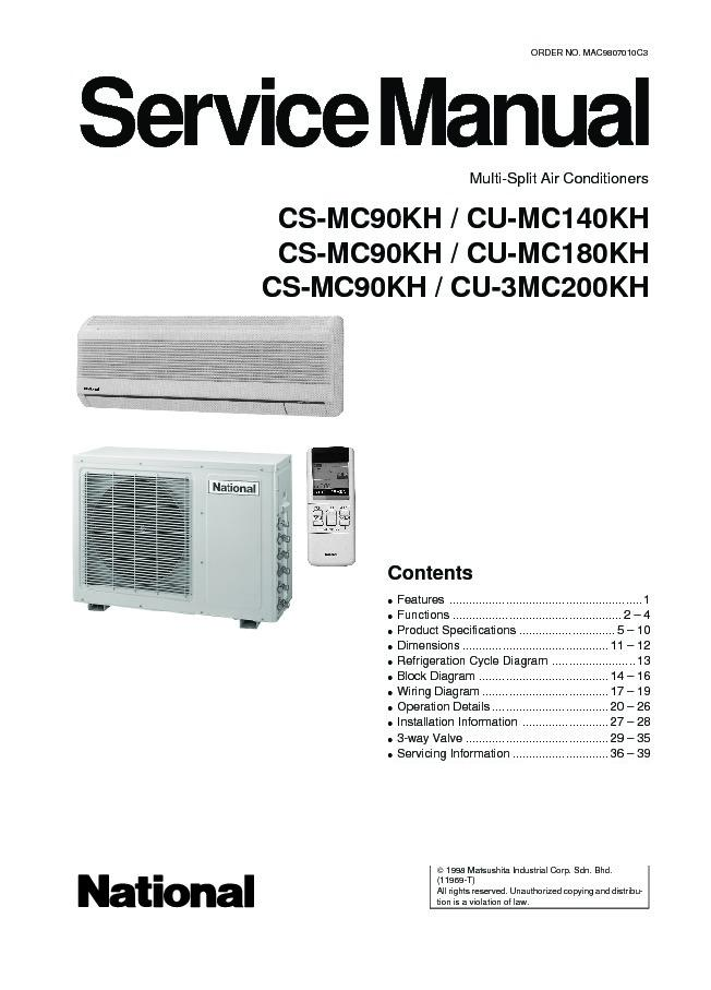 Panasonic Mini Split Air Conditioner Manual