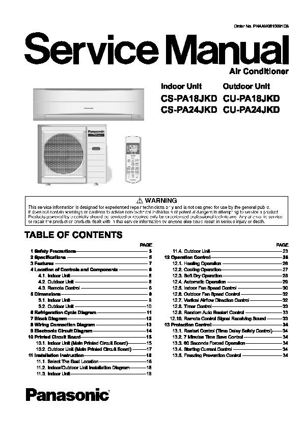 Panasonic air conditioning manuals array panasonic air conditioner service manuals page 9 rh servlib com fandeluxe Images