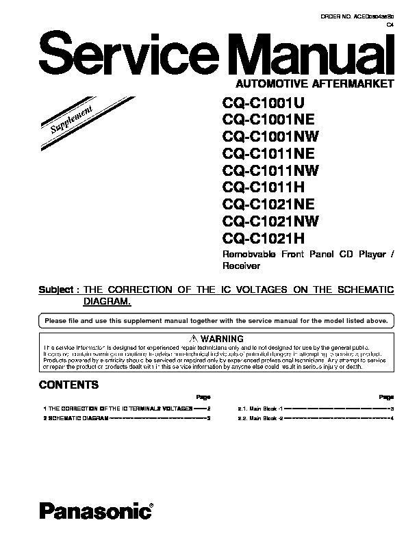 panasonic cq c1001w cq c1101w cq c1121w cq c1301w cq c3401w cq rh servlib com Panasonic Stereo Wiring Diagram Manual CQ Panasonic Rx200u