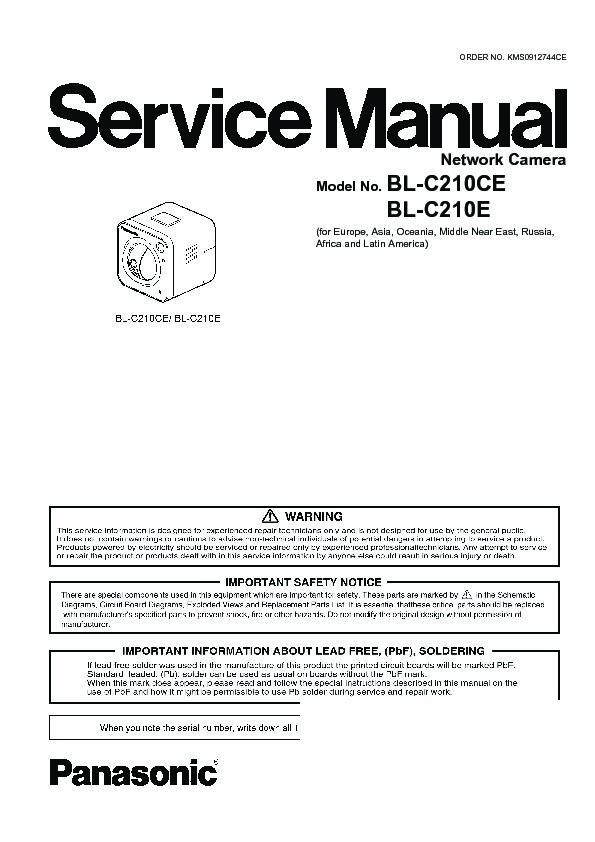 bl-c210ce, bl-c210e service manual