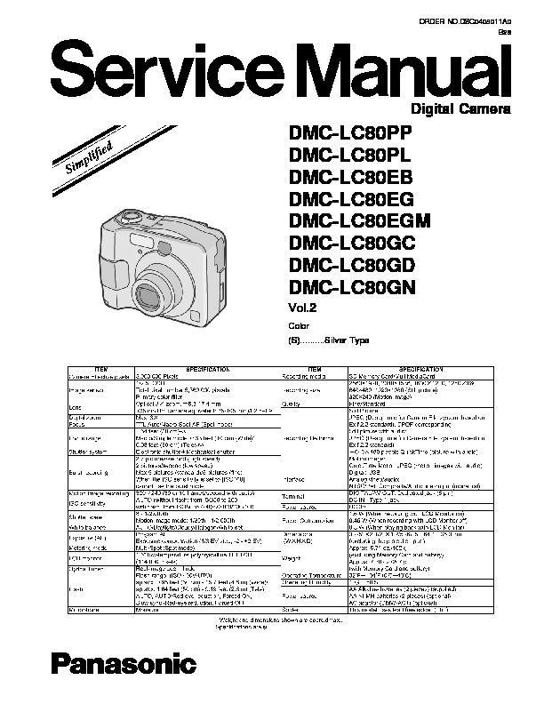 panasonic dv dsc service manuals page 10 rh servlib com Panasonic Manual Ra 6800 Panasonic Manual Ra 6800