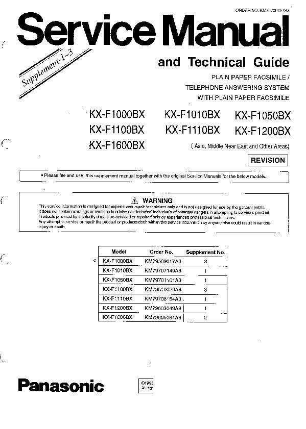 panasonic kx f1000 kx f1100 kx f1600 kx f1010 kx f1110 kx f1120 rh servlib com Panasonic Kx Instruction Manual Panasonic 6.0 Cordless Phone Manual