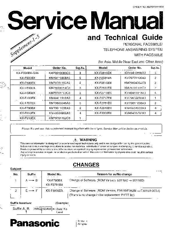 panasonic kx f580 kx f680 kx f700 kx f780 kx f910 kx f300 rh servlib com Panasonic Kx Instruction Manual Panasonic Kx Cordless Phone Manual