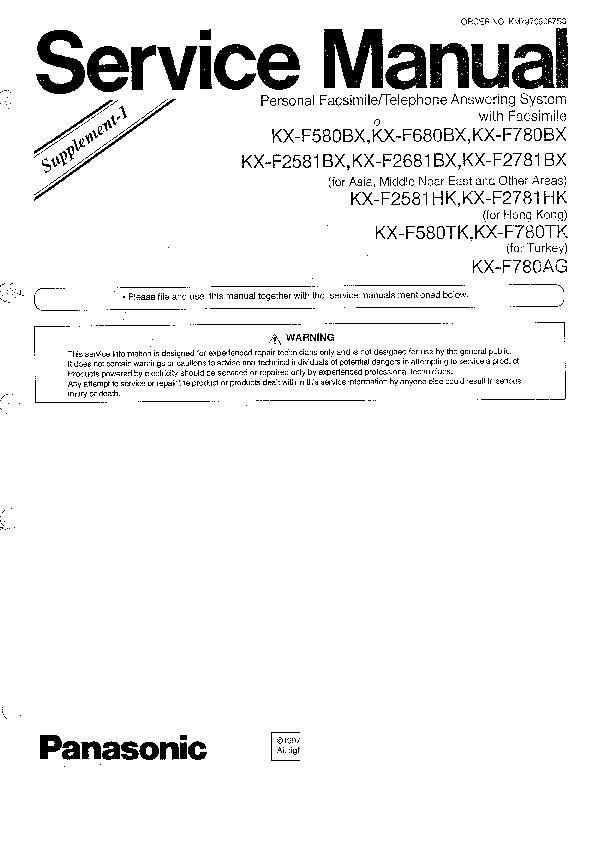 Инструкция panasonic kx f680