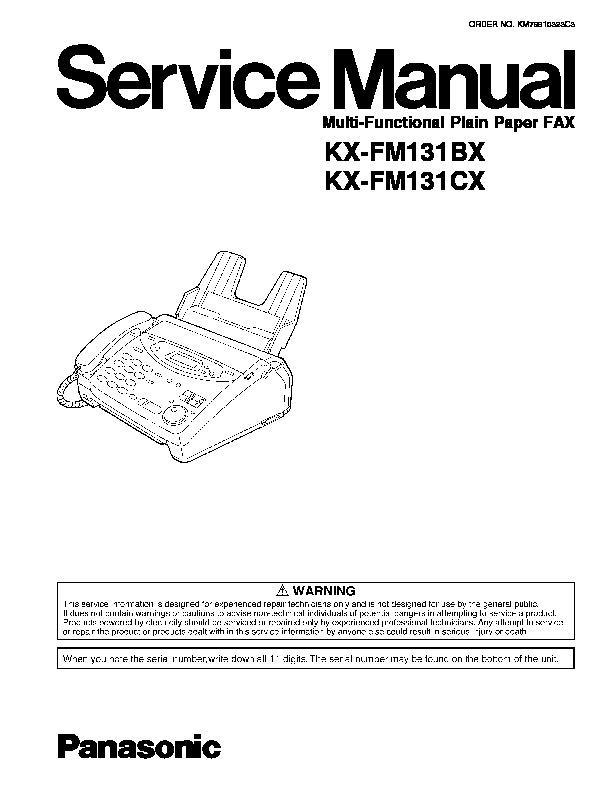 Факс panasonic kx ft21 инструкция