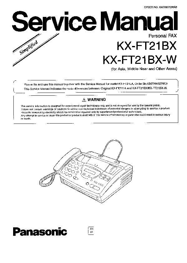 panasonic kx fm131 kx fp101 kx fp105 kx fp121 kx ft21 service rh servlib com Panasonic Kx Fl511 Manual Panasonic Kx Fl511 Manual
