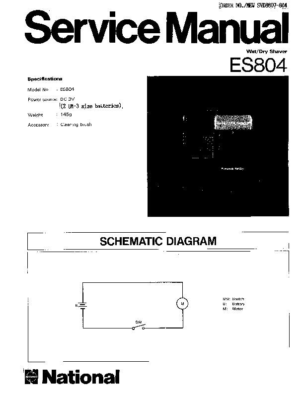 panasonic es804 service manual  u2014 view online or download