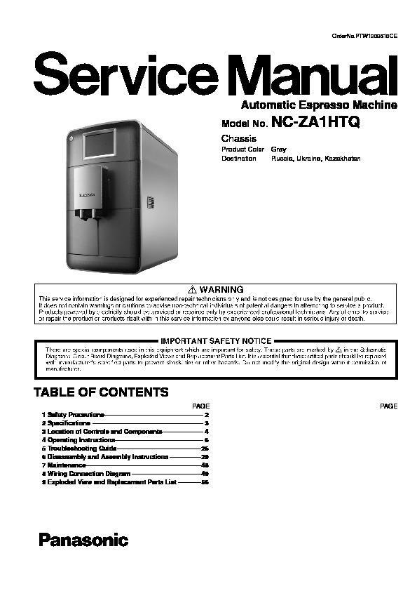panasonic nc za1htq service manual view online or download repair rh servlib com Panasonic Fax Machines Models Panasonic Fax and Answering Machine