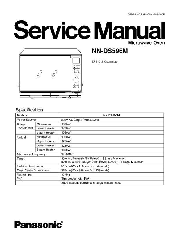 Panasonic Nn Ds596mzpe Service Manual