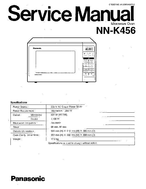 Panasonic Nn K456 Service Manual