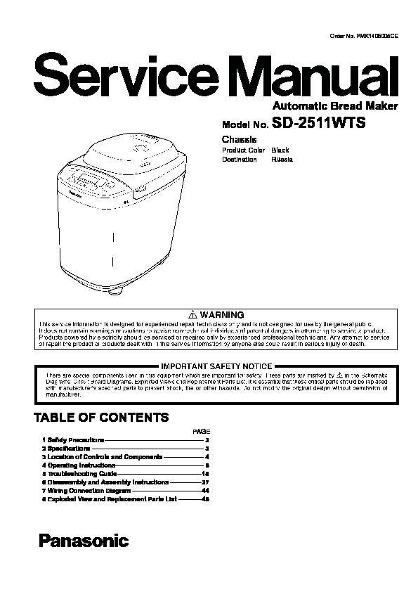 panasonic sd 251 service manual view online or download repair manual rh servlib com Panasonic Owner's Manual Manual Panasonic Radio