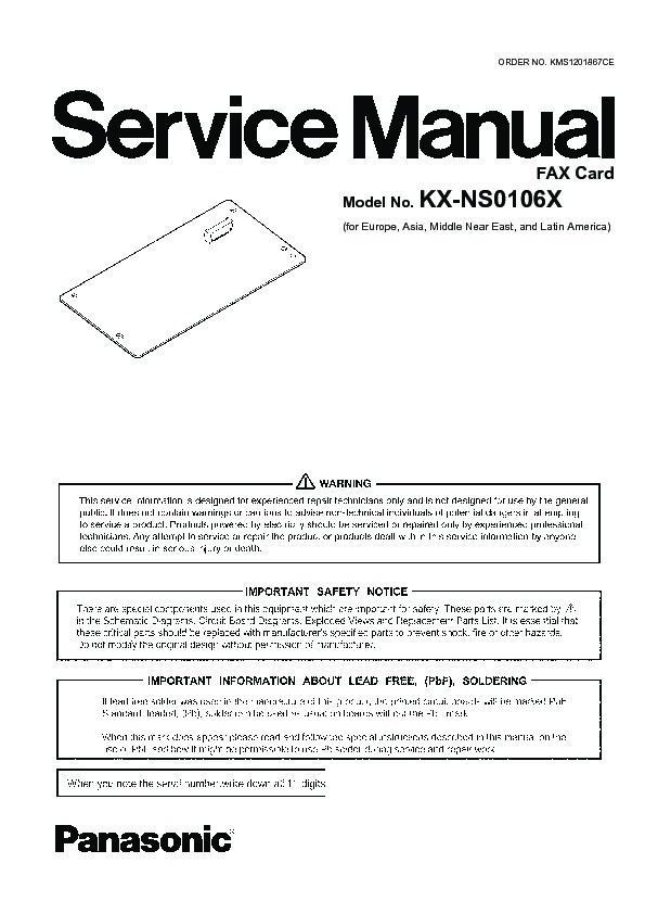 panasonic kx ns0106x service manual page 2 rh servlib com Panasonic.comsupportbycncompass Panasonic Owner's Manual