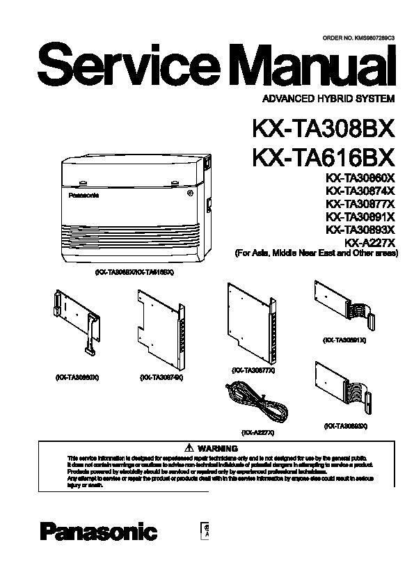 panasonic kx ta308 kx ta616 other service manuals view online or rh servlib com panasonic kx ta308 system programming manual panasonic kx-ta308 installation manual pdf