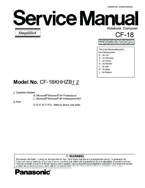 Panasonic Toughbook CF-18 CF 18 CF-29 CF 29 HDD Hard Drive Cable DL3UP1279BAA
