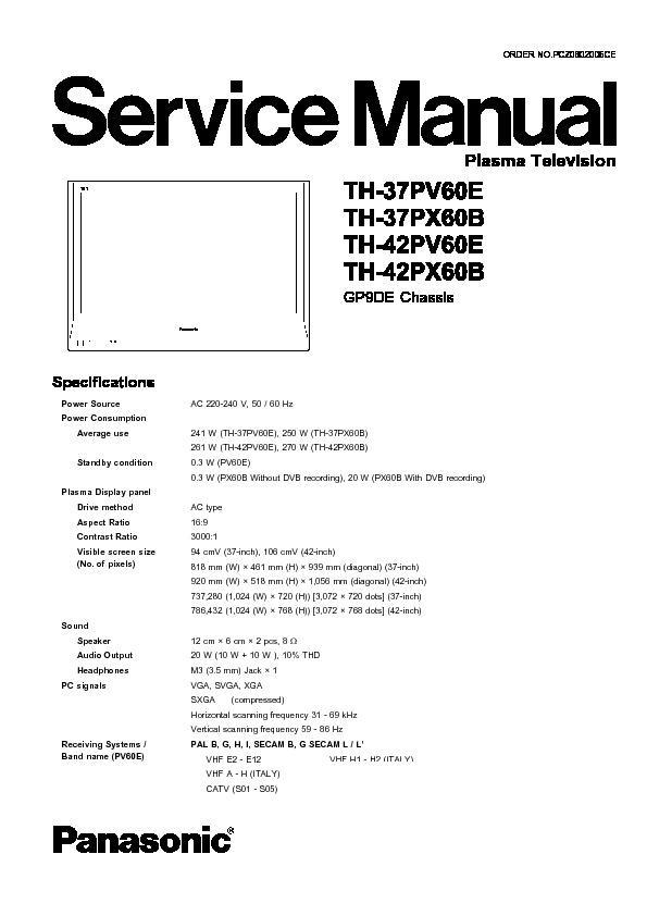 panasonic plasma service manuals page 3 rh servlib com Display Cases Plasma Display Problems