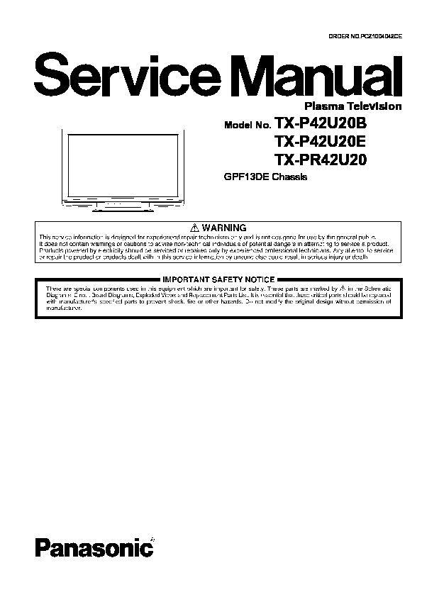 Panasonic tx pr42u30 инструкция