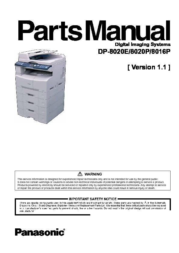 Related For Panasonic DP-8016P Driver