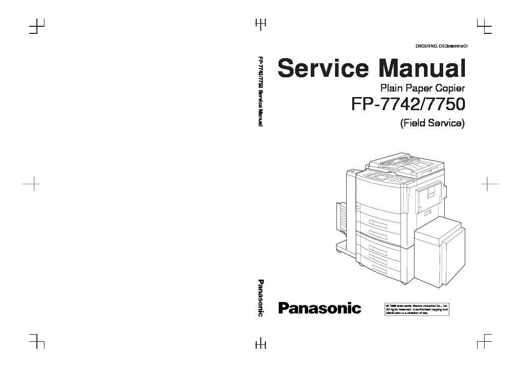 panasonic fp 7742 fp 7750 service manual view online or download rh servlib com f&p mw512 service manual f&p dd603 service manual