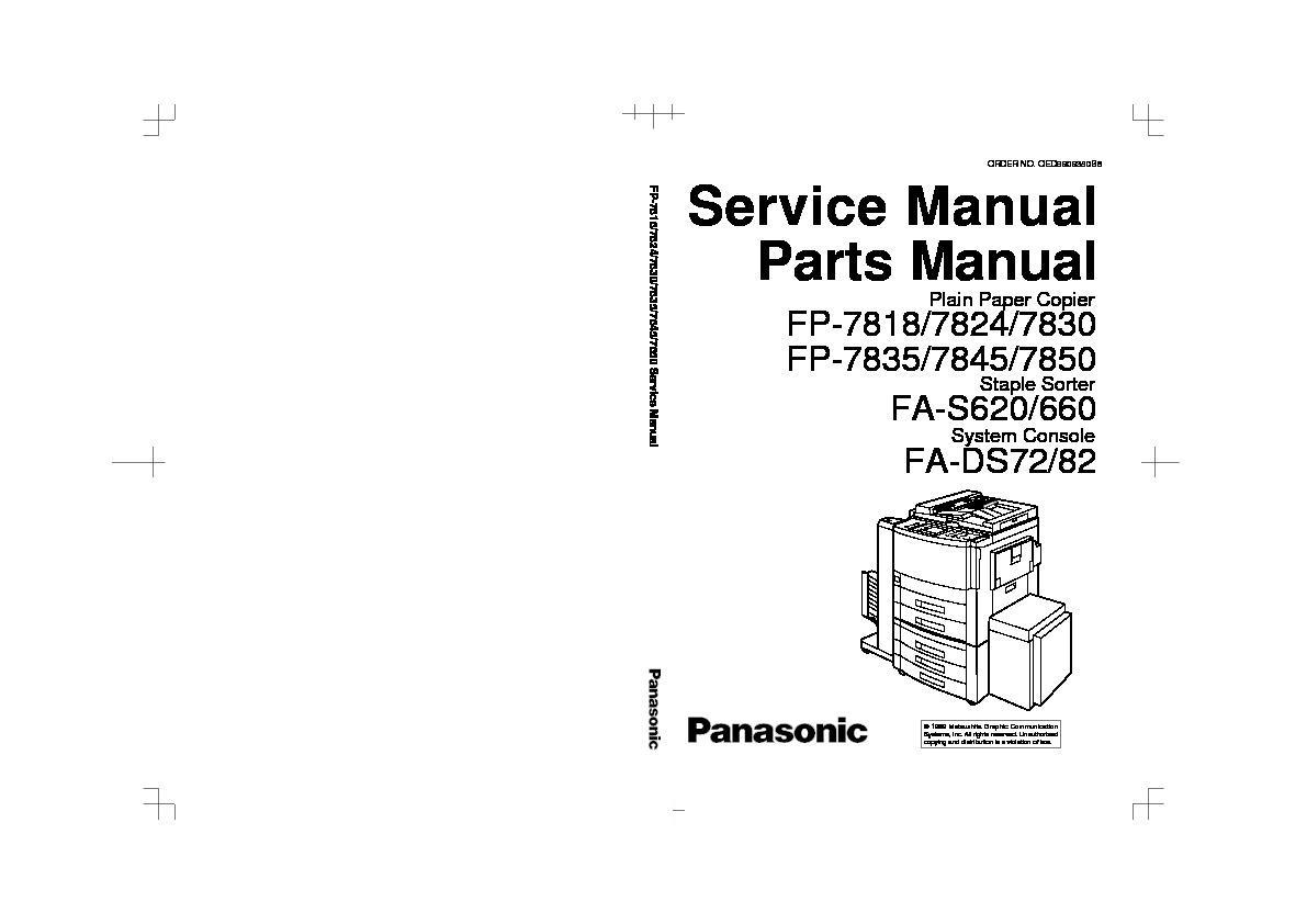 panasonic copier manual