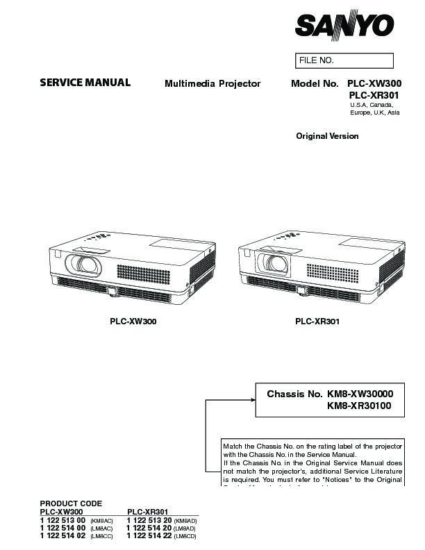 panasonic plc xw300 plc xr301 service manual view online or rh servlib com Troubleshoot Sanyo XGA Projector Sanyo XGA Projector Manual