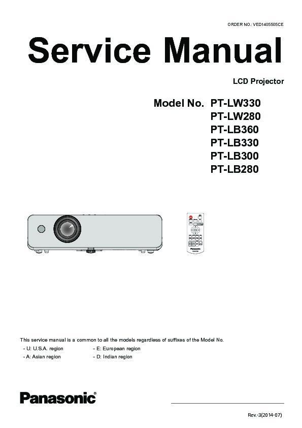 panasonic pt lw330 pt lw280 pt lb360 pt lb330 pt lb300 pt lb280 rh servlib com Hitachi LCD Projector epson lcd projector service manual