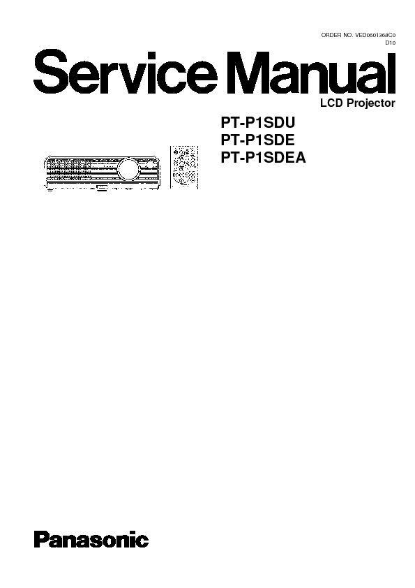 panasonic pt p1sdu pt p1sde pt p1sdea service manual view online rh servlib com Panasonic Projector Driver Panasonic Projector Driver