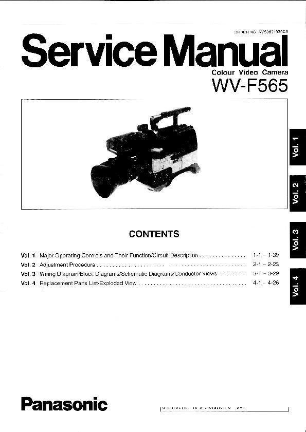 panasonic wv f565 service manual supplement view online or rh servlib com Sanyo Camera Manuals Daystar Camera Mount Instruction Manual