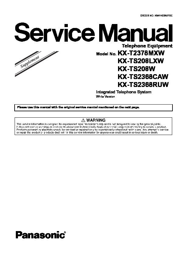 Original Panasonic Service Manual for SE Model Stereo Systems ~ Select One