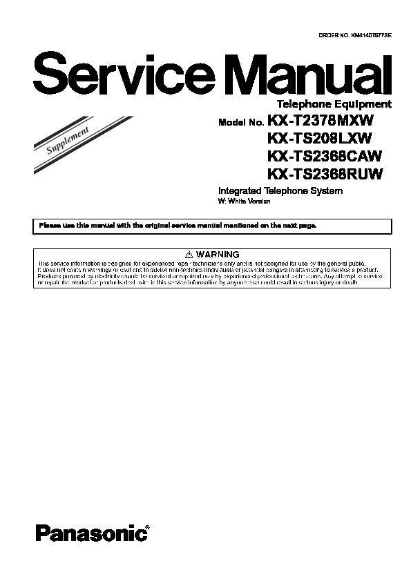 panasonic kx t2378mxw kx ts208lxw kx ts2368caw kx ts2368ruw rh servlib com telephone system manuals unify telephone system manual