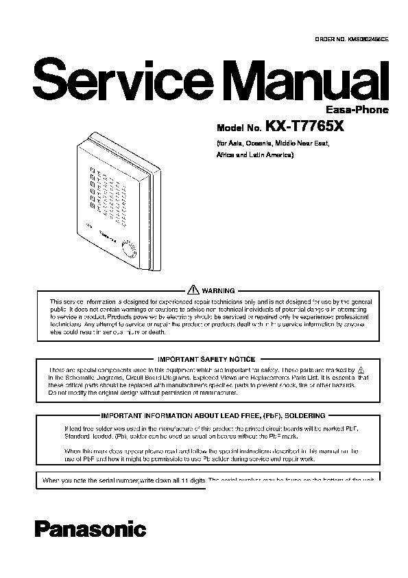 panasonic easa phone manual