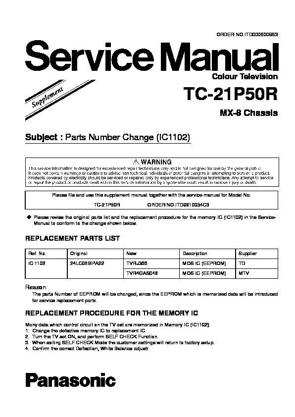 Panasonic Mc E750 Mc E751 Mc E752 Service Manual View