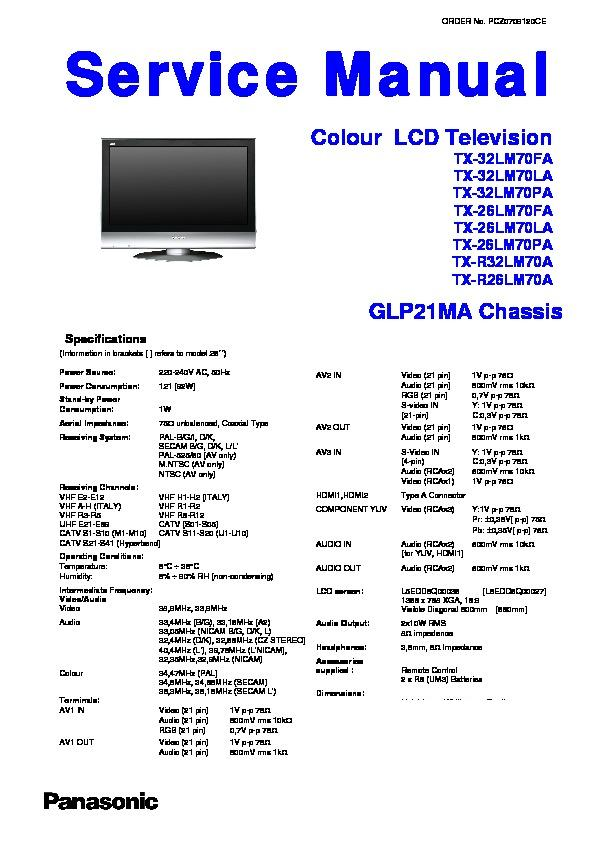 panasonic tv service manuals page 37 rh servlib com Panasonic Viera TV Stand Panasonic 32 Inch TV
