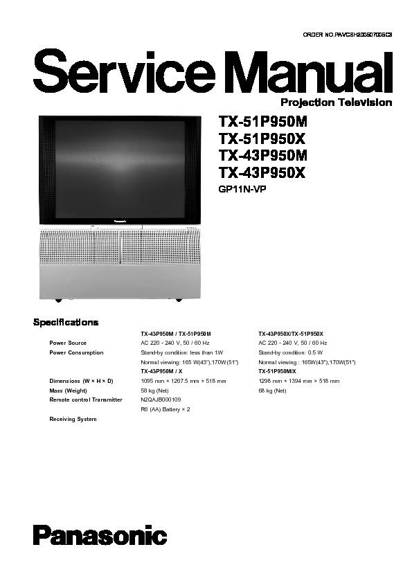 panasonic tv service manual