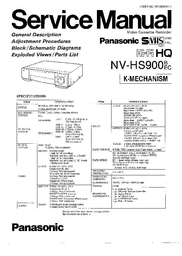Service manual vcr daily instruction manual guides panasonic nv hs900b nv hs900ec service manual view online or rh servlib com service manual craftsman mowers service manual crate bt25 fandeluxe Image collections