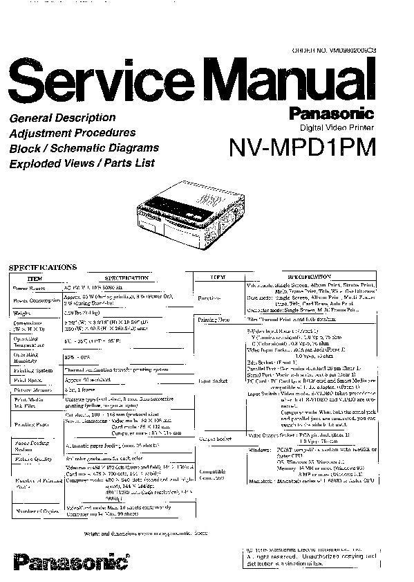 Panasonic NV-MV21EBL